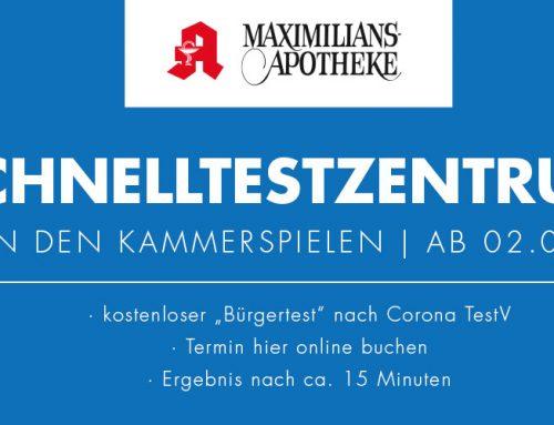 Schnelltestzentrum der Maximilians-Apotheke